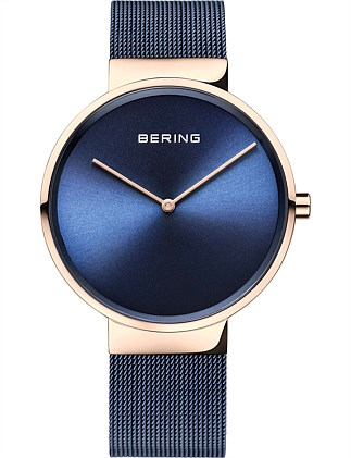 Bering Blue Mesh Watch