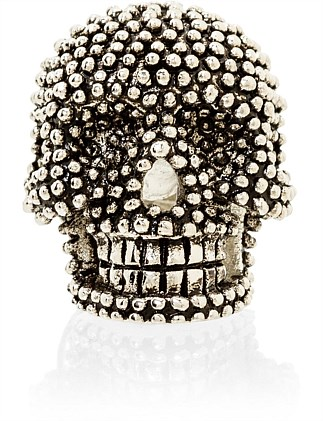 Antique Chain Skull Lapel Pin