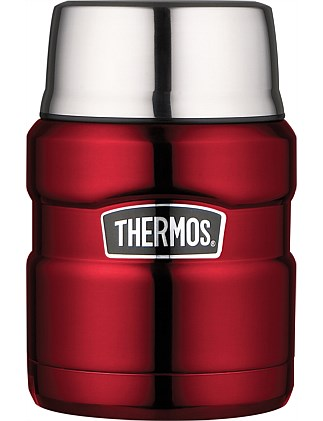 THERMOS SS KING VAC INSULATED FOOD JAR 470ML- Red