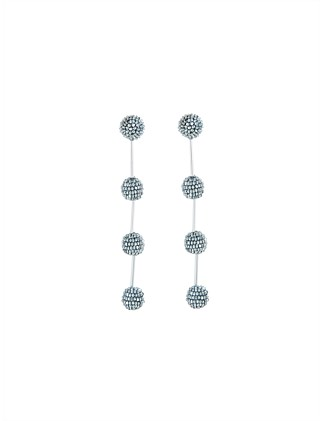 SMALL BEADED DROP P EARRING
