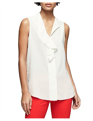 NOA-RUFFLE SLEEVELESS BLOUSE