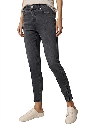 Mila Zip Jean Smoke