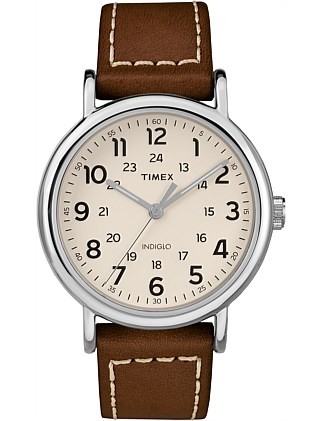 Weekender Leather Strap Watch