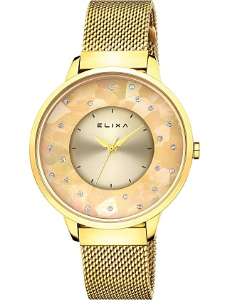 Finesse Yellow Plated Watch