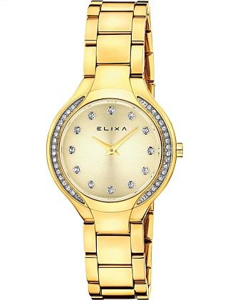 Beauty Yellow plated watch