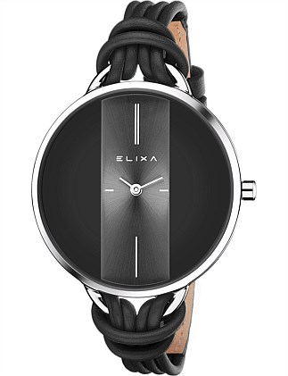 Finesse Leather Stainless steel watch
