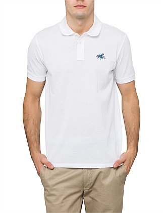 Pique Polo W/ Applique Octopus