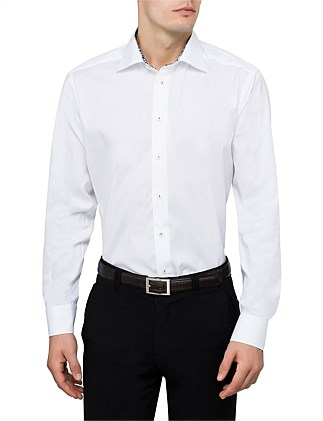 TWILL SLIM FIT SHIRT W/CONTRAST DETAIL