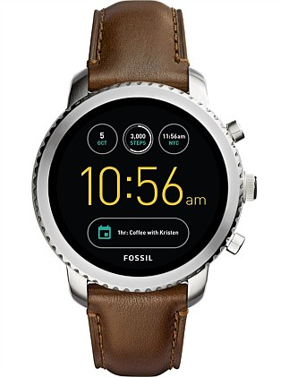 Q Explorist Brown Display Smartwatch