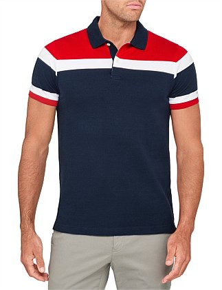 RACING STRIPE SLIM POLO