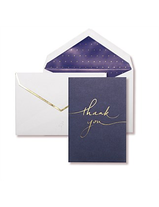 APW Boxed Thank You Cards - Navy & Gold