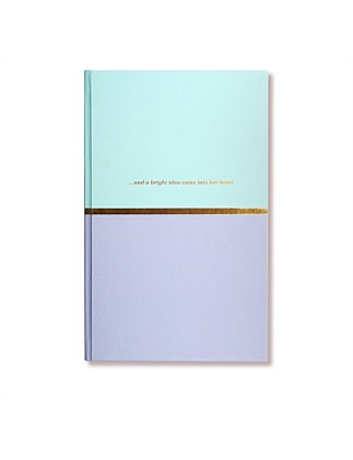 APW Notebook - Bright Idea - Duck Egg & Misty Blue