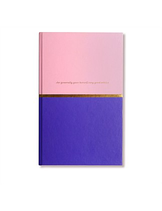 APW Notebook - Very Good Advice - Pink & Royal Blue