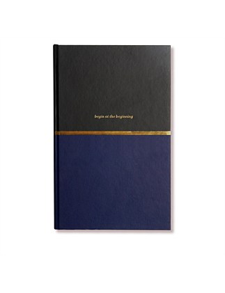 APW Notebook - Begin At The Beginning - Navy & Black
