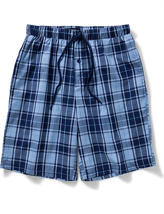Woven Check Sleep Short