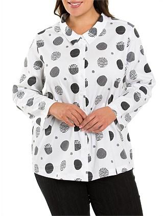 366e345f6 Curved Hem Print Shirt Special Offer