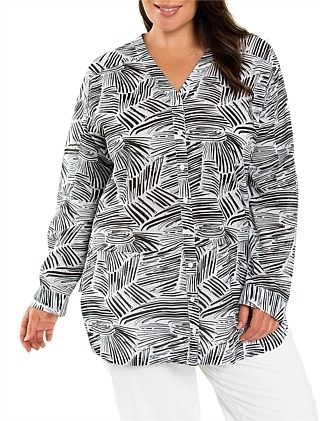 Relaxed wave print Shirt