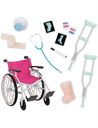 Doll Medical Set with Wheelchair