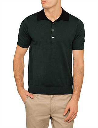 Knitted Stripe Polo