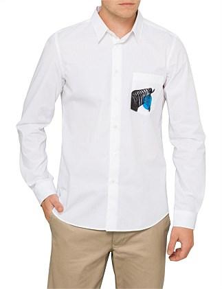 7d493a24 Add to wishlist · Cotton L/S Shirt W/ Pocket And Zebra Print ...
