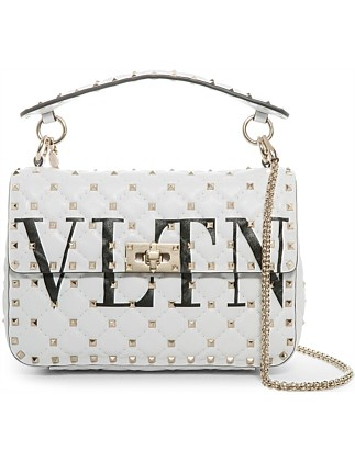 VLTN SPIKE IT MEDIUM LEATHER SHOULDER BAG