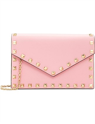 ROCKSTUD LEATHER POUCH