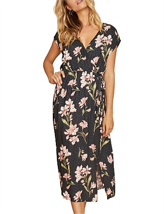 Nightshade Wrap Midi Dress