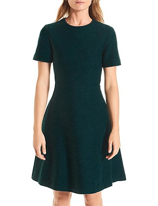 Zeta Felted Wool A-Line Dress