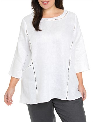 3/4 Sleeve Lace Trim Overshirt