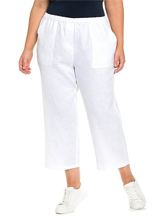 2c5e950b3ad Washer Linen Cropped Pant. Yarra Trail Woman