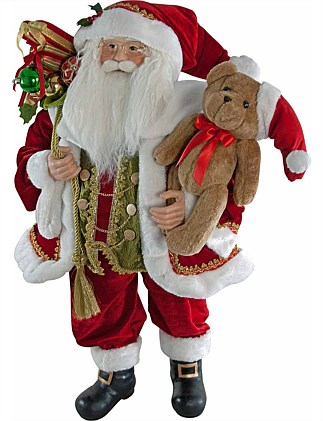 santa with toy bag - Holographic Christmas Decorations