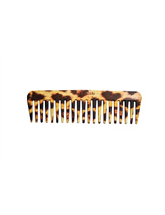 Rock & Ruddle Wide Tooth Comb - Leopard Fur