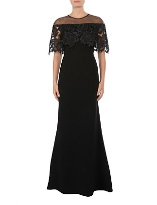 BLACK CREPE GOWN