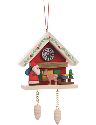 CUCKOO CLOCK RED WITH SANTA