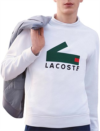 Block Croc Sweatshirt White