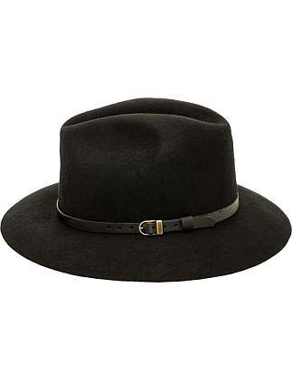 WOOL FELT SMALL FEDORA