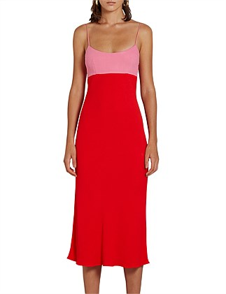 ZINNIA SLIP MIDI DRESS