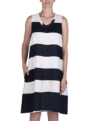 Tie Back Stripe Dress