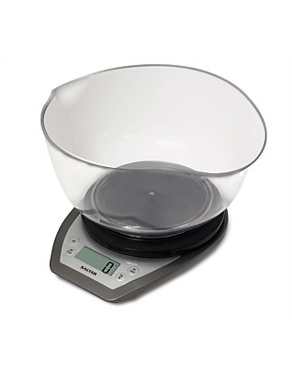 SALTER AQUATRONIC DUAL POUR KITCHEN SCALE WITH BOWL