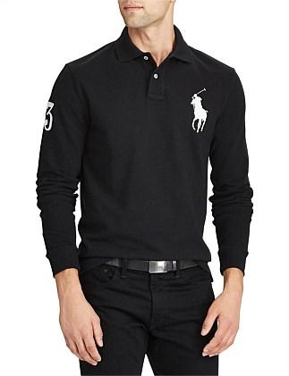 62c4ba23 Men's Custom Slim Fit Mesh Polo Special Offer On Sale. BLACK; WHITE. Polo  Ralph Lauren