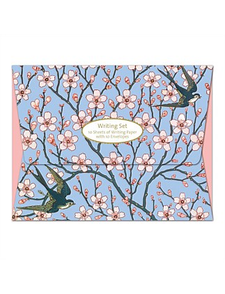 MUSEUMS AND GALLERIES - ALMOND BLOSSOM WRITING SET
