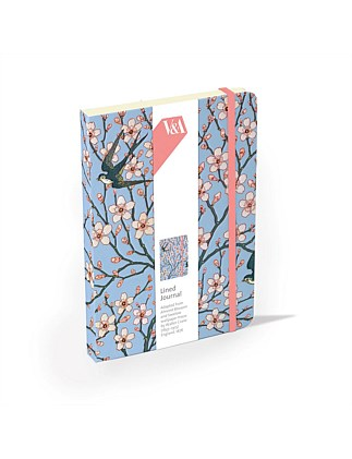 MUSEUMS AND GALLERIES - ALMOND BLOSSOM ELASTICATED JOURNAL