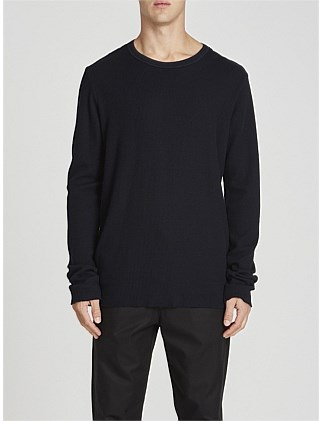 2 Pc Neck L/S Waffle T.Shirt