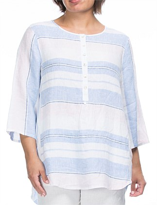 Yarn Dyed Stripe Linen Tunic