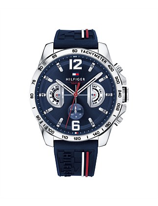 Analogue Watch Navy Dial And Silicone Strap