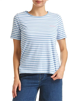 MERCI STRIPE TEE