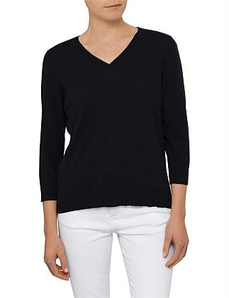 Cotton V Neck Pull Over