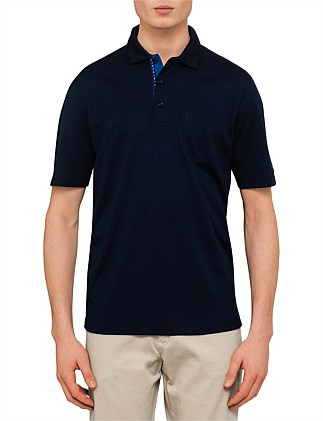 CONTRAST BUTTONS SOLID POLO