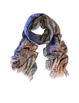 Knitting Digital Print Cotton Scarf