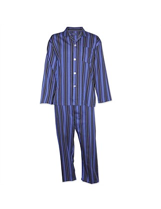 CONTARE SATIN STRIPE LS PJ SET